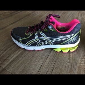 Women's Black and Pink Ascis GT-2170 Size 10